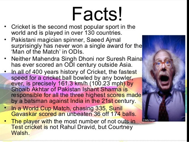 Facts About the Game of Cricket