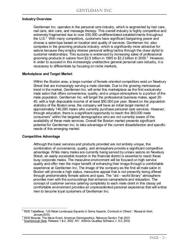 Student Project: Business Plan Competition Entry in Spring 2004