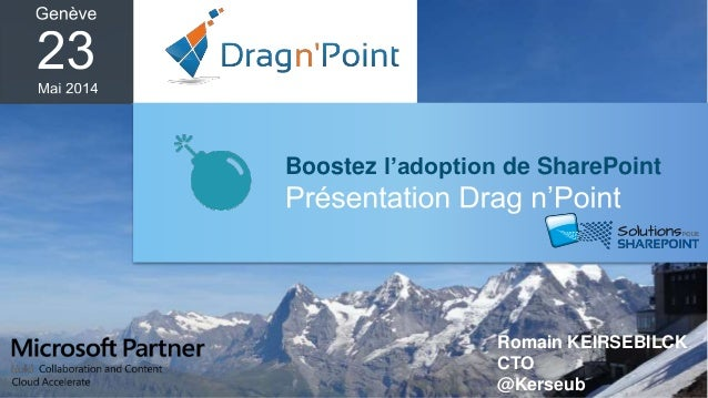 Boostez l'adoption de SharePoint Romain KEIRSEBILCK CTO @Kerseub