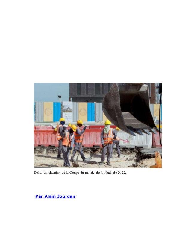 Doha: un chantier de la Coupe du monde de football de 2022. Par Alain Jourdan