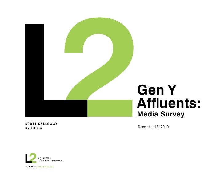 Gen Y                                     Affluents:                                     Media SurveySCOT T G A L LO W AYN...