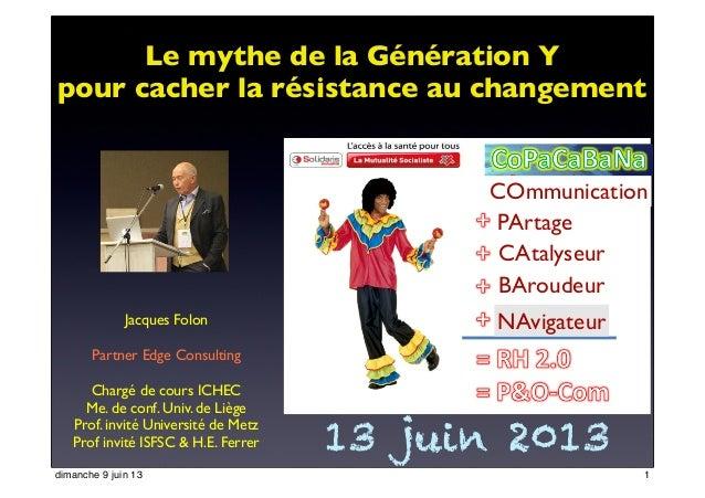 Jacques FolonPartner Edge ConsultingChargé de cours ICHECMe. de conf. Univ. de LiègeProf. invité Université de MetzProf in...