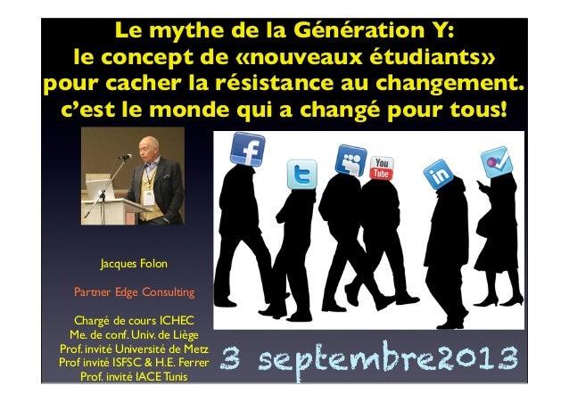Jacques Folon Partner Edge Consulting Chargé de cours ICHEC Me. de conf. Univ. de Liège Prof. invité Université de Metz Pr...