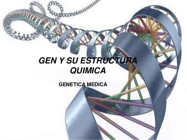 GEN Y SU ESTRUCTURA  QUIMICA  GENETICA MEDICA