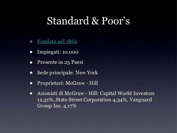 Fitch•   Fondata nel 1913•   Impiegati: 2.000•   Presente in 51 Paesi•   Sede principale: New York - Londra•   Proprietari...