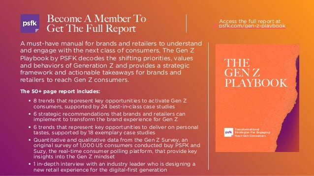 A must-have manual for brands and retailers to understand and engage with the next class of consumers, The Gen Z Playbook ...