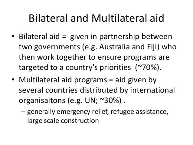 What is Multilateral Aid? definition and meaning