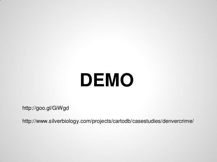 GeoCO Denver Crime Presentation