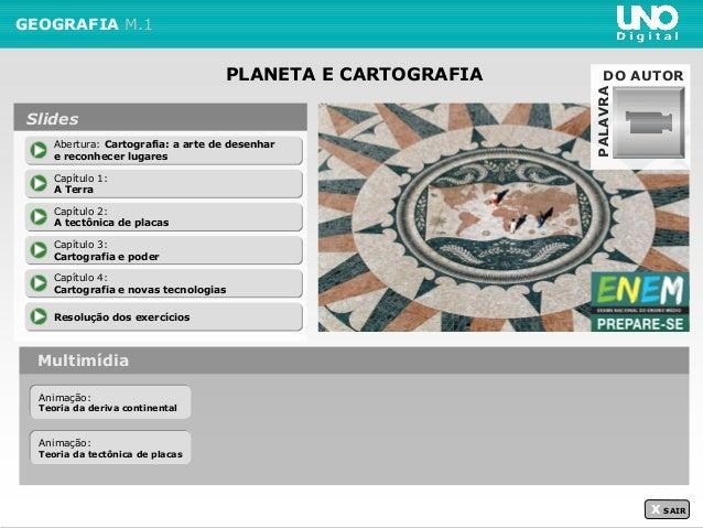 PLANETA E CARTOGRAFIA GEOGRAFIA M.1 Multimídia X SAIR Abertura: Cartografia: a arte de desenhar e reconhecer lugares Abert...