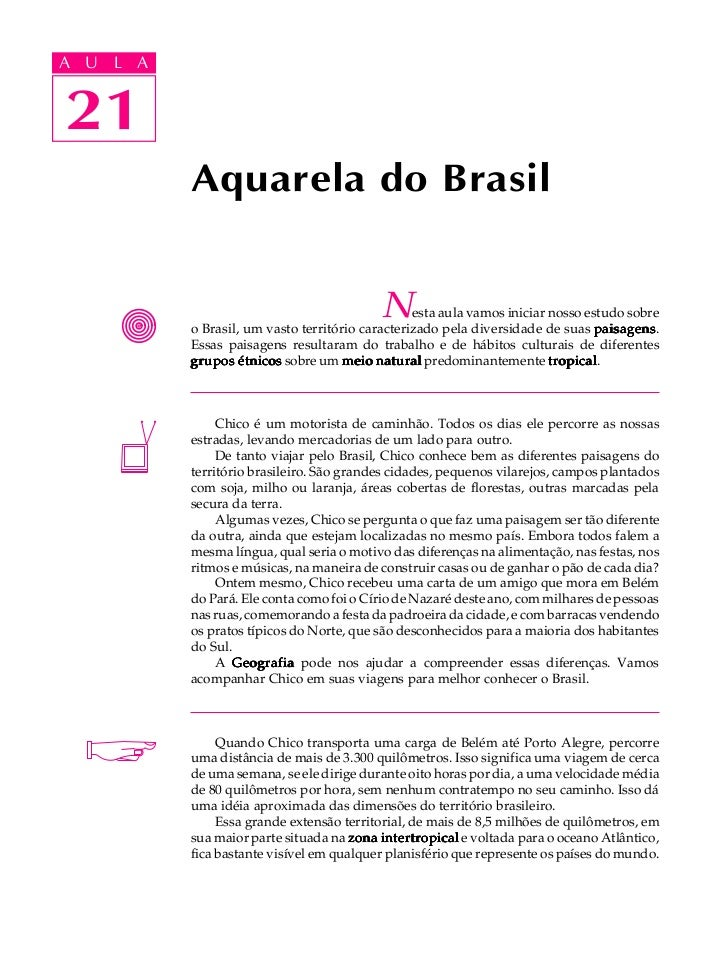 A UA U L A     L A    2121             Aquarela do Brasil                                              N     esta aula vam...