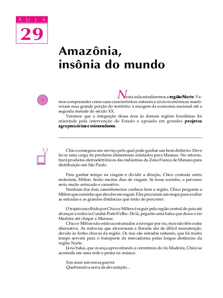 A UA U L A     L A    2929             Amazônia,             insônia do mundo                                             ...