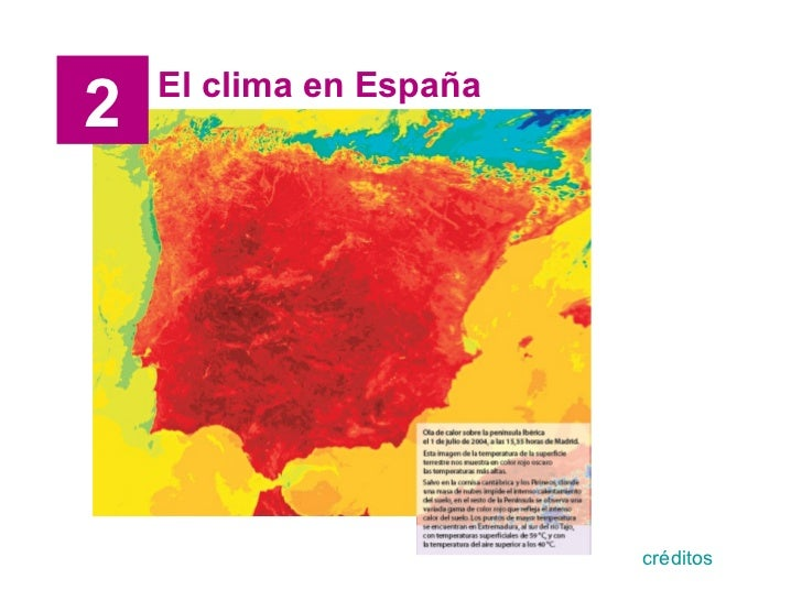 El clima en España 2 créditos