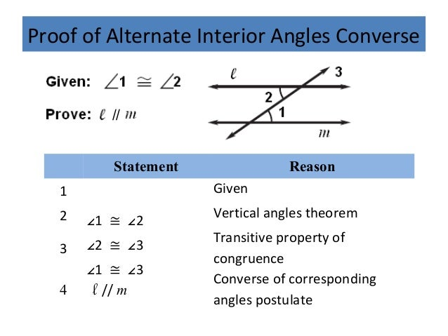 Geo 3 4 proving lines parallel - Alternate exterior angles converse ...