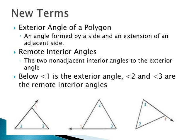 Great ... Remote Interior Angles; 10.