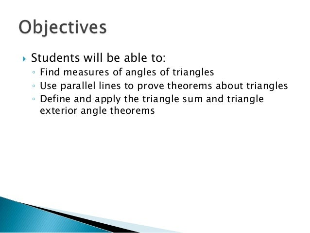 Geo 3 5 Parallel Lines And Triangles