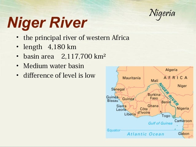 Nigeria Niger River - African rivers by length