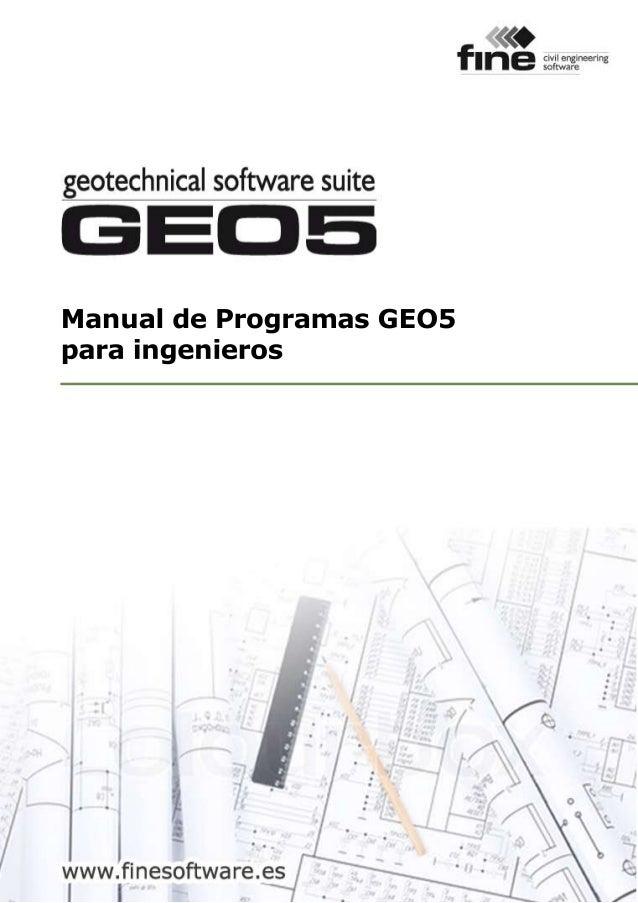 ManualdeProgramasGEO5 paraingenieros
