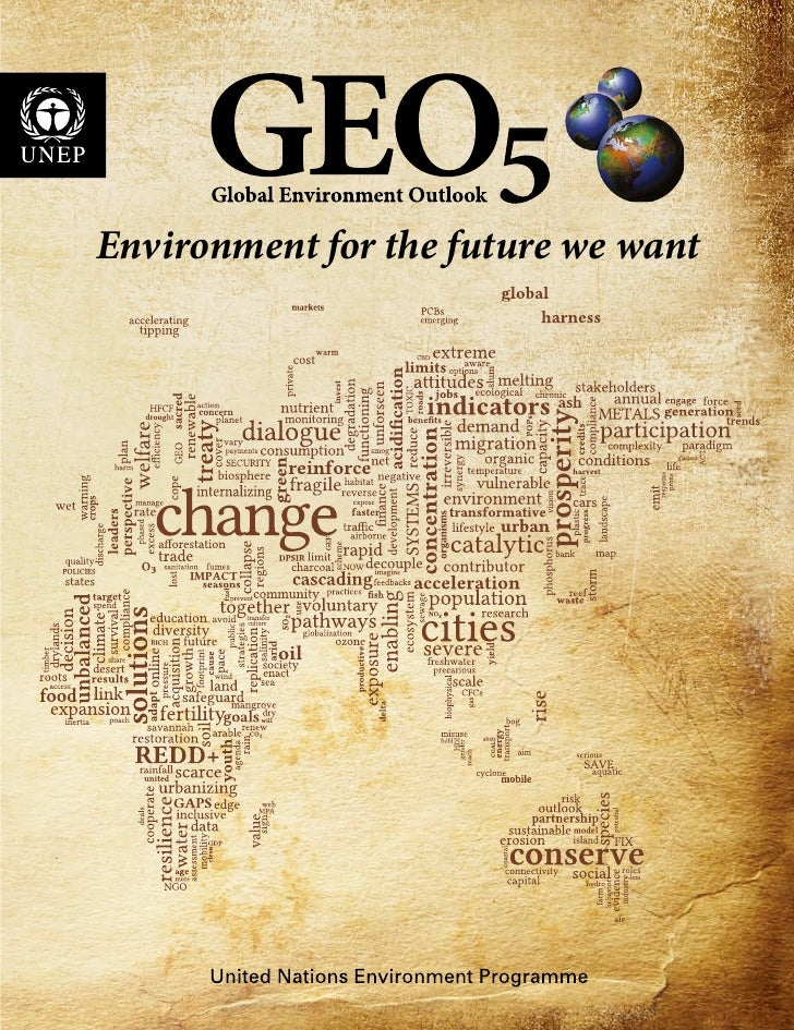 Environment for the future we want