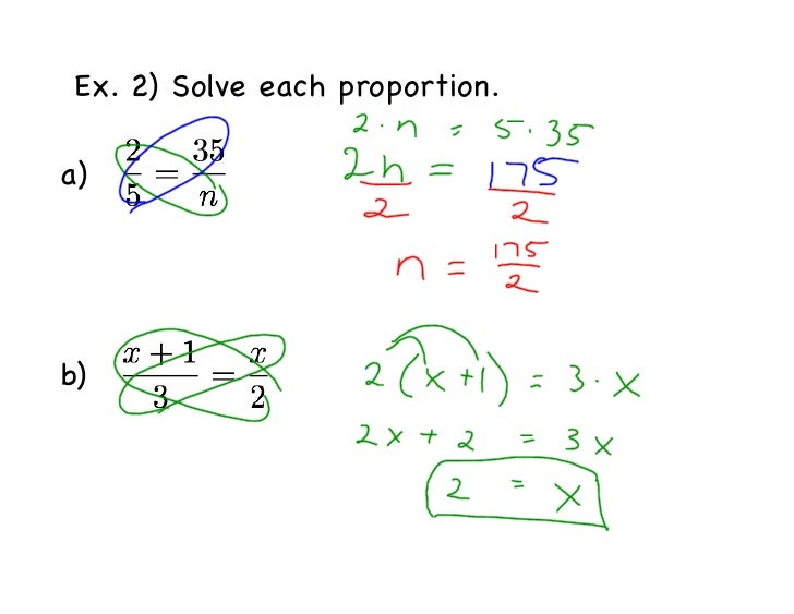 Geo 71 Proportions notes – Solving Proportions Worksheet Answers