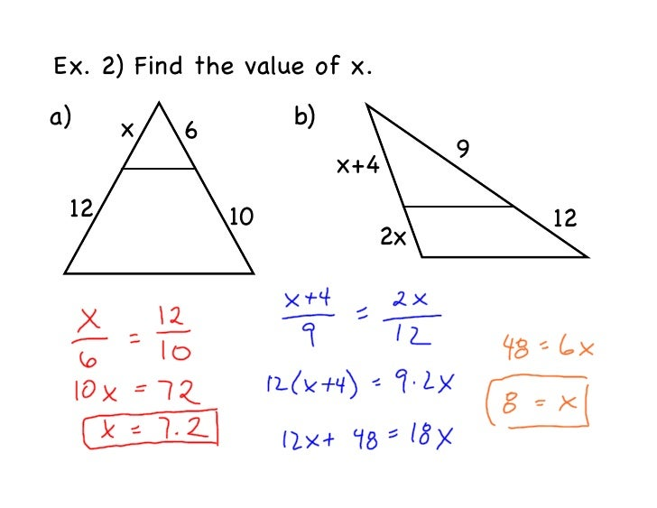 Geo 75 Notes Similarity And Parallel Lines