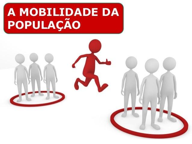 A MOBILIDADE DA POPULAÇÃO