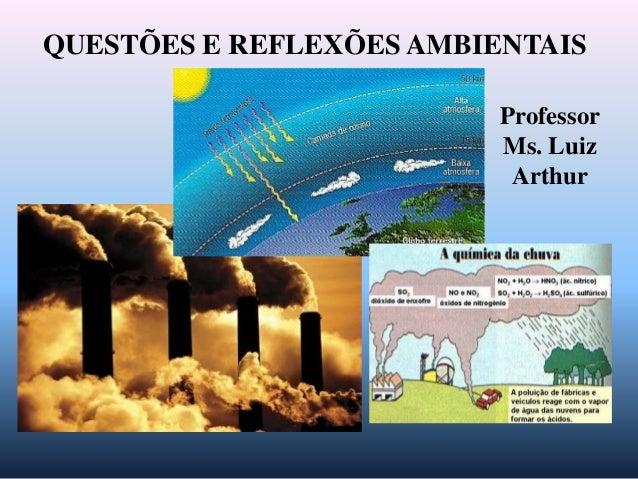 QUESTÕES E REFLEXÕES AMBIENTAIS                          Professor                          Ms. Luiz                      ...