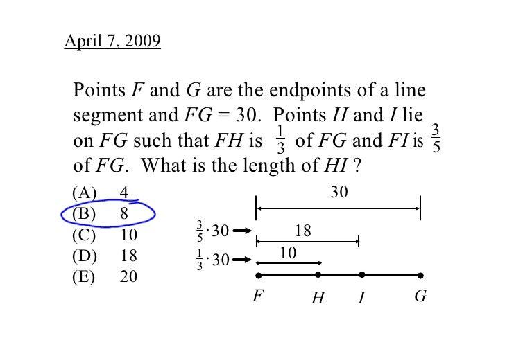 April7,2009   PointsFandGaretheendpointsofaline  segmentandFG=30.PointsHandIlie                    ...