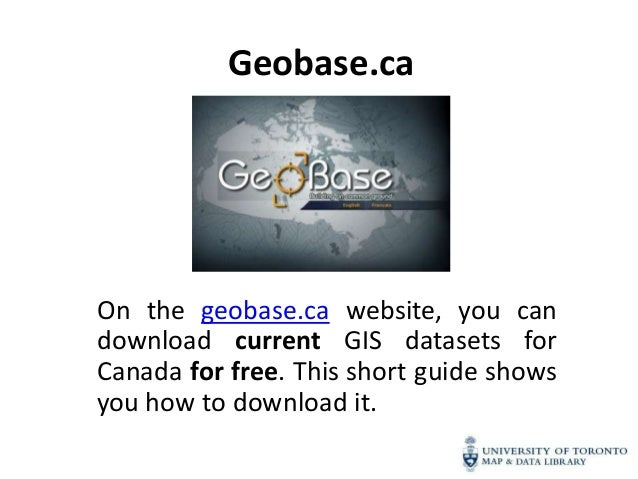 Geobase.caOn the geobase.ca website, you candownload current GIS datasets forCanada for free. This short guide showsyou ho...