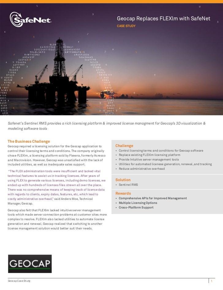 Geocap Replaces FLEXlm with SafeNet                                                                        Case StudySafen...
