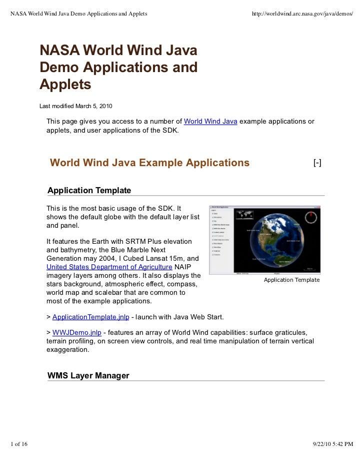 nasa world wind - tom gaskins geocens workshop presentation september…, Presentation templates