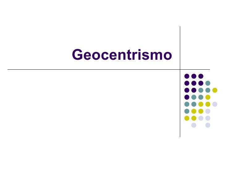 Geocentrismo