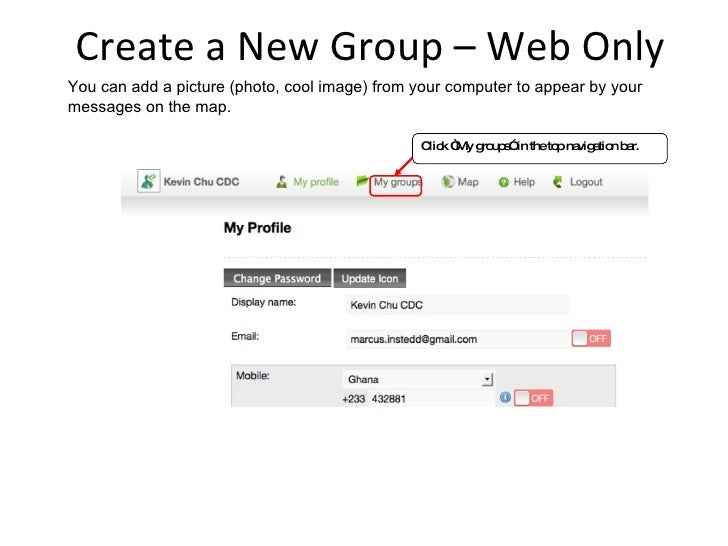 Create a New Group – Web Only You can add a picture (photo, cool image) from your computer to appear by your messages on t...