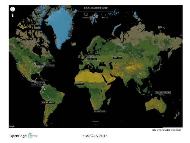 OpenCage FOSSGIS 2015 http://worldwideberlin.com/