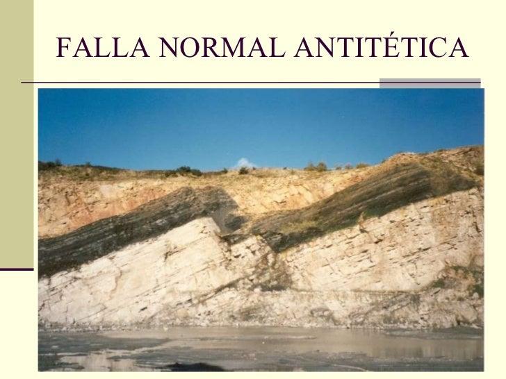 FALLA NORMAL ANTITÉTICA