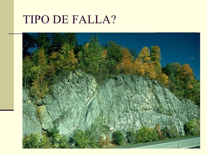 TIPO DE FALLA?