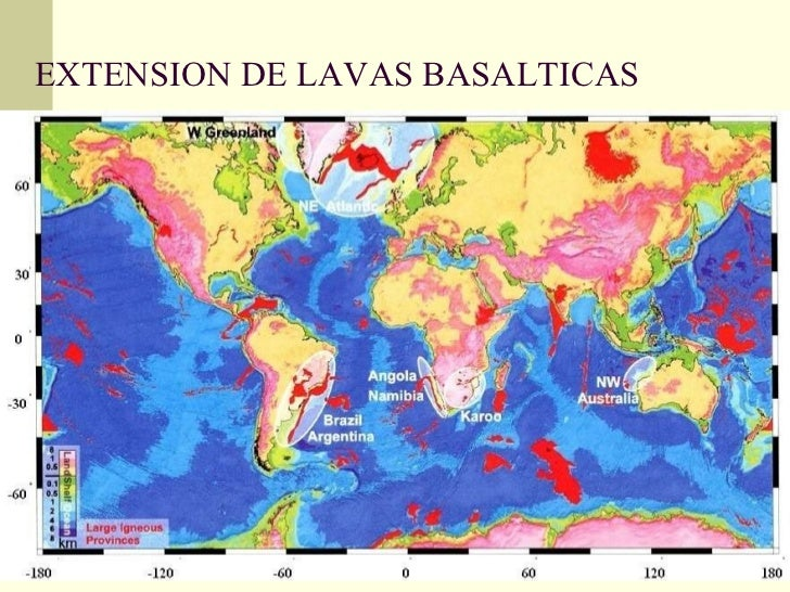 EXTENSION DE LAVAS BASALTICAS