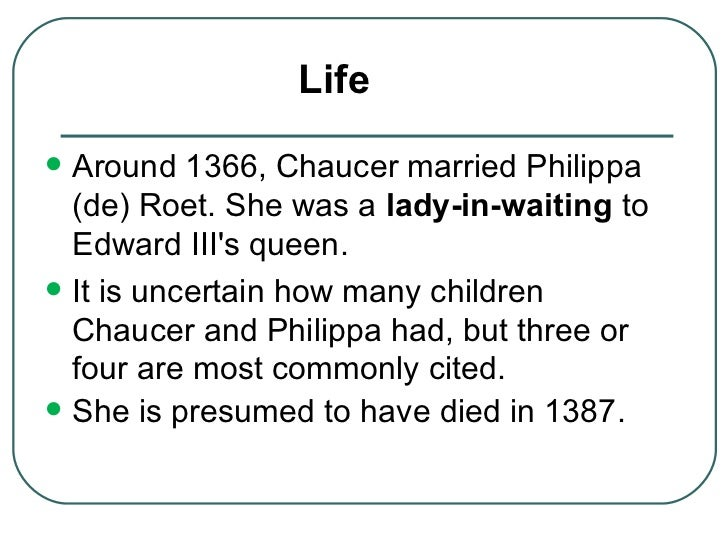"the life and career of gepffrey chaucer Geoffrey chaucer's life was crazier than  the couple appears to have cultivated an easygoing ""commuter"" or ""dual career"" marriage that involved little in."