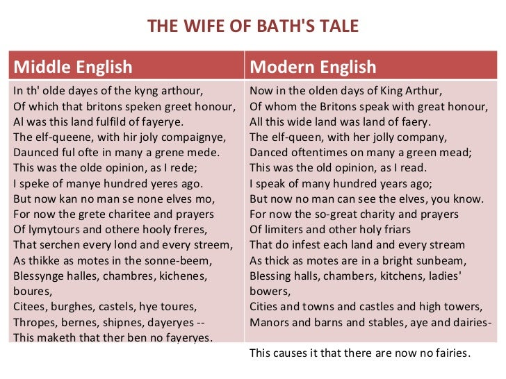 an analysis of the clerks tale and the wife of bath tale by geoffrey chaucer in the canterbury tales By geoffrey chaucer  the ending of the clerk's tale is totally strange and  unexpected  the clerk's interpretation of his story is somewhat undermined,  though, by his condemnations of walter throughout  and finally, in anticipation  of the wife of bath's likely reaction to his tale, the clerk invites his audience to  listen to.