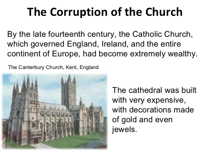 Geoffrey chaucers view of the catholic church in the canterbury tales