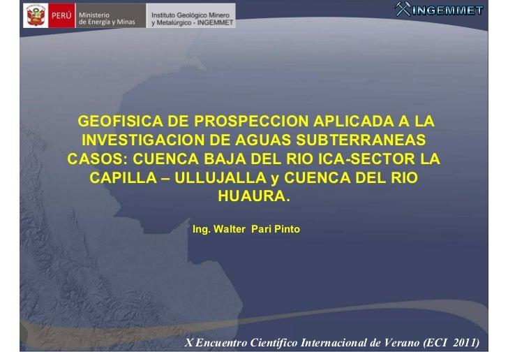 planeta tierra           Ciencias de la Tierra para la Sociedad GEOFISICA DE PROSPECCION APLICADA A LA INVESTIGACION DE AG...
