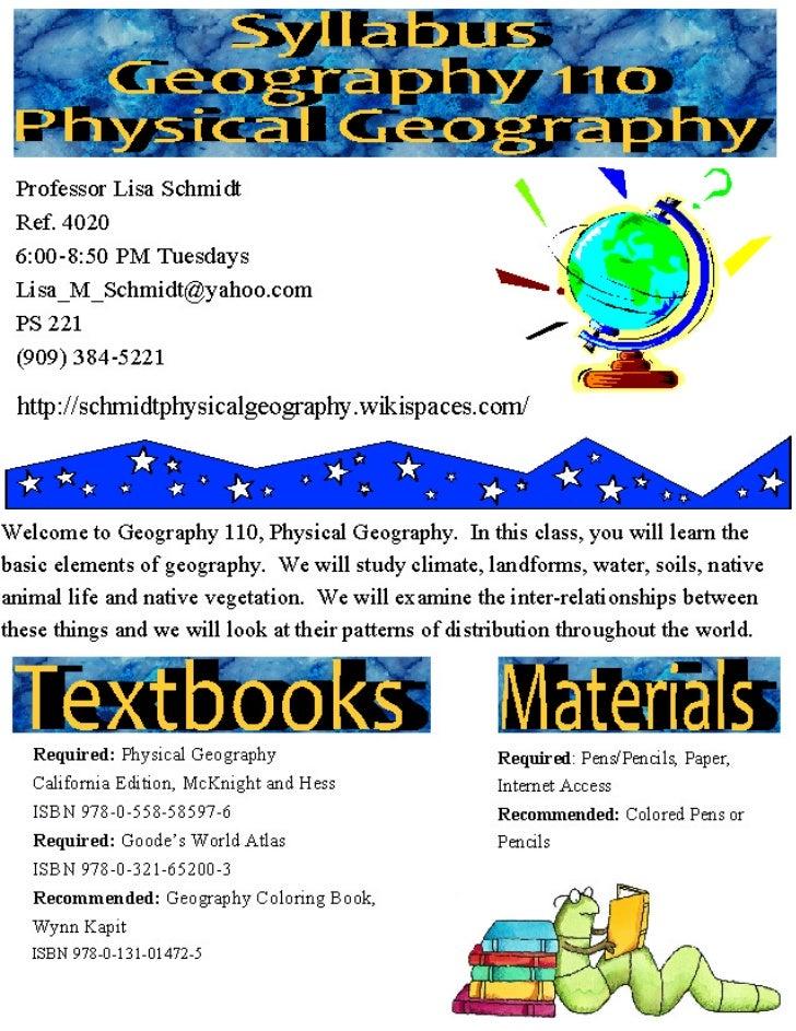 Geog 110 syllabus sp 2012