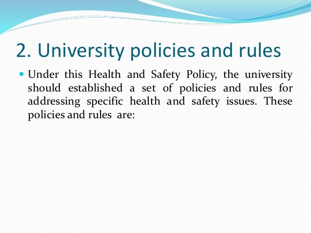 Amazing Health And Safety Policy Contemporary - Best Resume