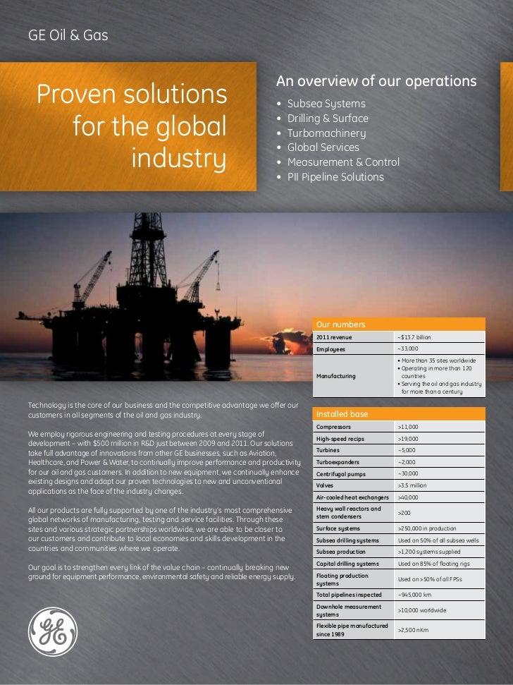 GE Oil & Gas ...