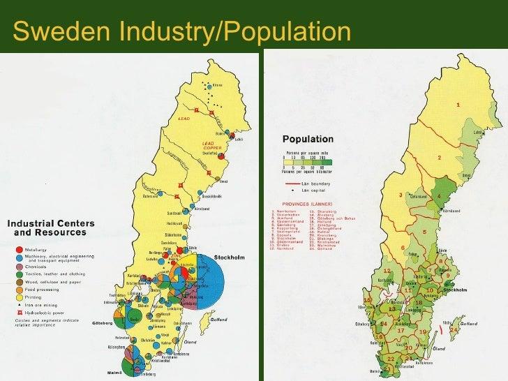 Geog Presentation Northern Europe - Sweden industry map