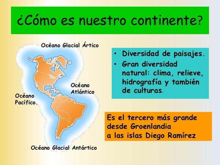 Generalidades De Los Continentes: Geografía De América, 5to Básico