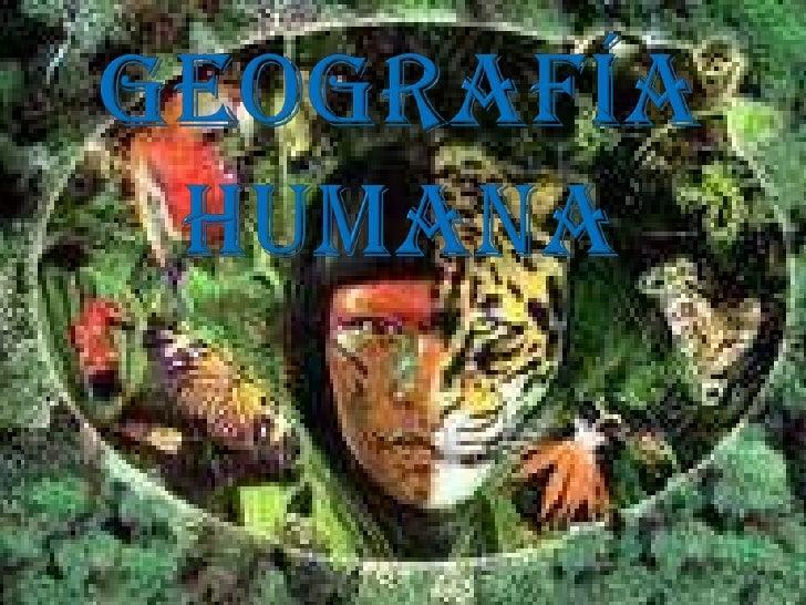 Geografía humana<br />