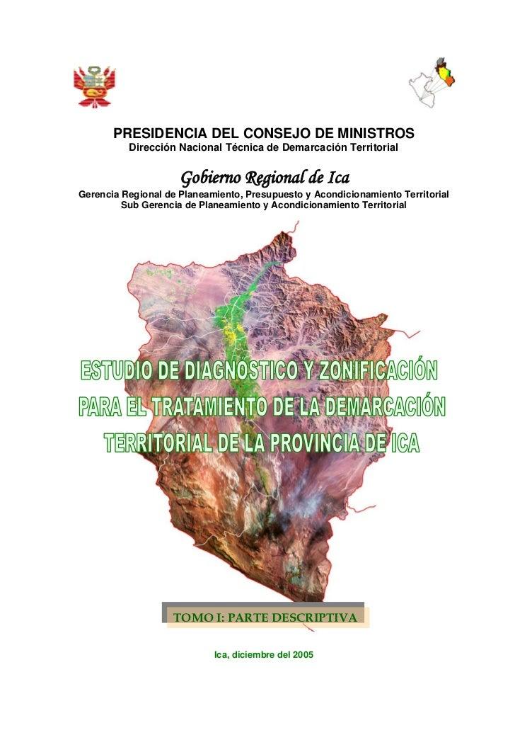 PRESIDENCIA DEL CONSEJO DE MINISTROS          Dirección Nacional Técnica de Demarcación Territorial                     Go...