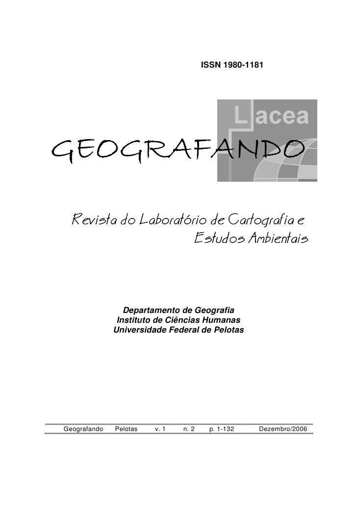 ISSN 1980-1181GEOGRAFANDO  Revista do Laboratório de Cartografia e                      Estudos Ambientais                ...