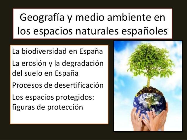 Geografía y medio ambiente en los espacios naturales españolesLa biodiversidad en EspañaLa erosión y la degradacióndel sue...