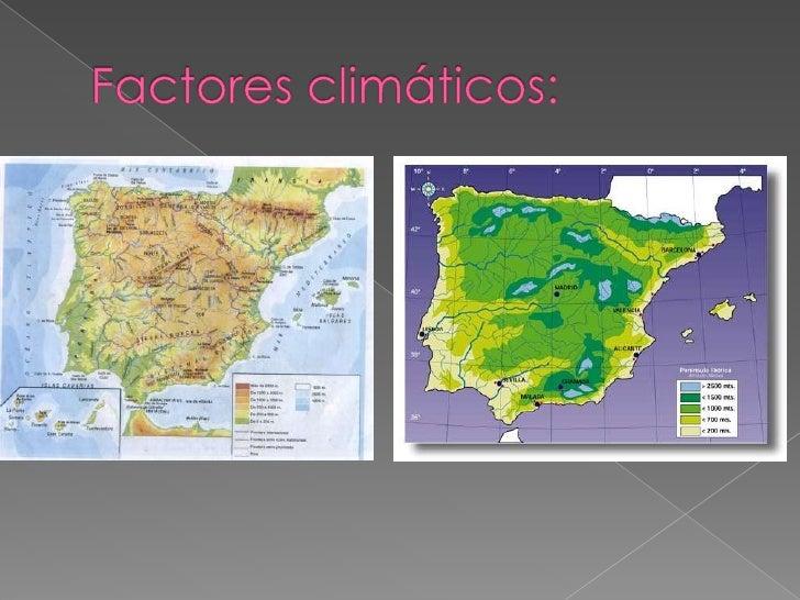 Factores climáticos:<br />